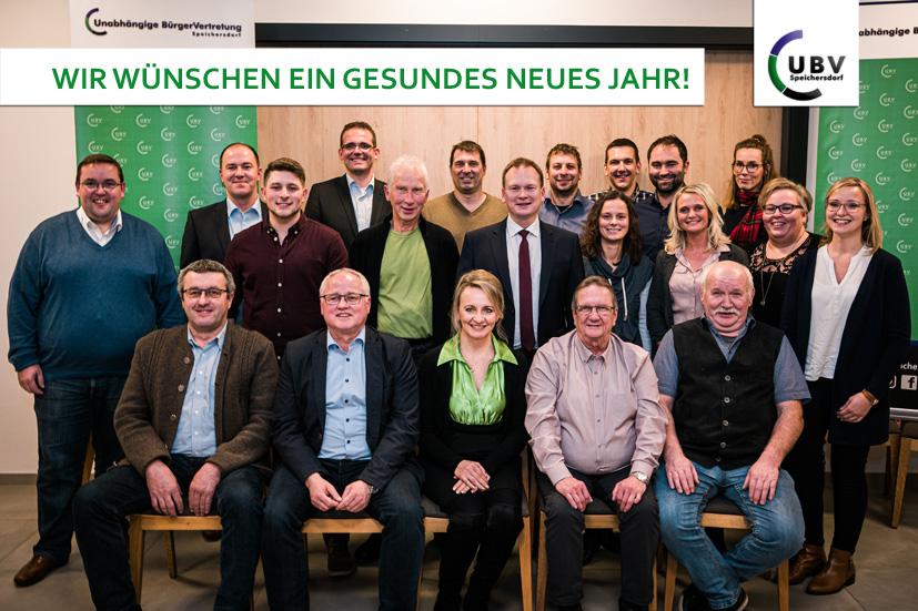 Das Team der UBV zur Kommunalwahl wünscht einen guten Rutsch und ein gesundes Jahr 2020. Foto: Mark Heuss.